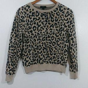 Leopard pattern swater